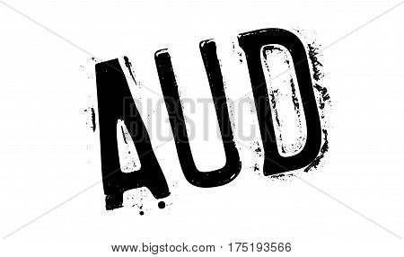 AUD rubber stamp. Grunge design with dust scratches. Effects can be easily removed for a clean, crisp look. Color is easily changed.