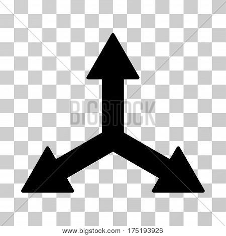 Triple Arrows icon. Vector illustration style is flat iconic symbol black color transparent background. Designed for web and software interfaces.