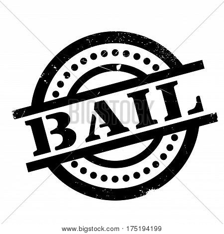 Bail rubber stamp. Grunge design with dust scratches. Effects can be easily removed for a clean, crisp look. Color is easily changed.