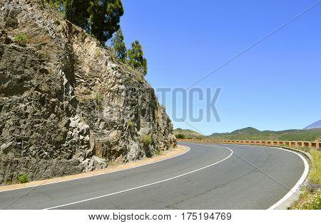 Santiago Del Teide country road in Tenerife