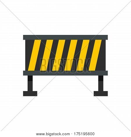 Safety barricade icon in flat style isolated on white background vector illustration