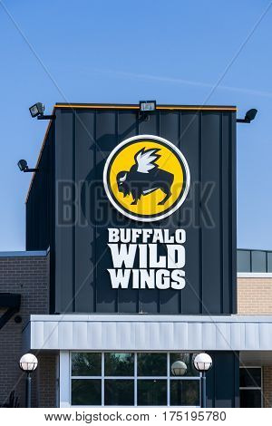 Buffalo Wild Wings Restaurant Exterior And Logo
