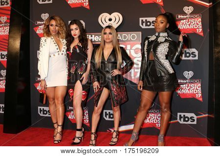 LOS ANGELES - MAR 5:  Fifth Harmony, Dinah Jane, Lauren Jauregui, Ally Brooke, Normani Kordei at the 2017 iHeart Music Awards at Forum on March 5, 2017 in Los Angeles, CA