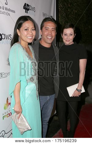 LOS ANGELES - MAR 4:  Linda Ching, Marc Ching, Shannen Doherty at the Animal Hope And Wellness Foundation's 1st Annual Gratitude Gala at the W Hollywood on March 4, 2017 in Los Angeles, CA