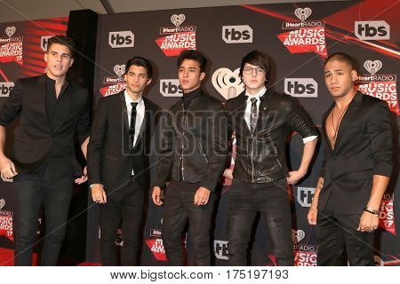 LOS ANGELES - MAR 5:  Cnco, Zabdiel de Jesus, Erick Brian Colon, Joel Pimentel, Christopher Velez, Richard Camacho at the 2017 iHeart Music Awards at Forum on March 5, 2017 in Los Angeles, CA