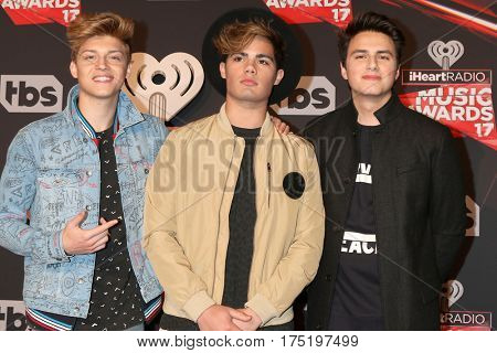 LOS ANGELES - MAR 5:  Forever In Your Mind, Ricky Garcia, Emery Kelly, Liam Attridge at the 2017 iHeart Music Awards at Forum on March 5, 2017 in Los Angeles, CA