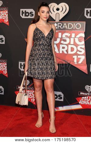 LOS ANGELES - MAR 5:  Kendall Vertes at the 2017 iHeart Music Awards at Forum on March 5, 2017 in Los Angeles, CA
