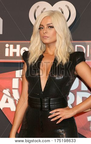 LOS ANGELES - MAR 5:  Bebe Rexha at the 2017 iHeart Music Awards at Forum on March 5, 2017 in Los Angeles, CA