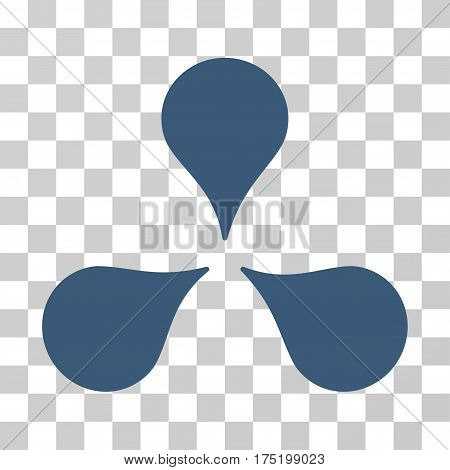 Map Markers icon. Vector illustration style is flat iconic symbol blue color transparent background. Designed for web and software interfaces.