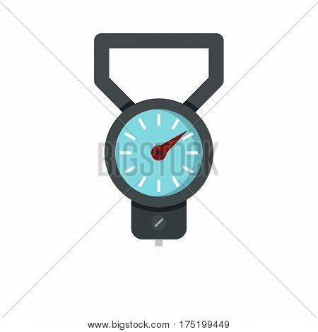 Spring scale icon in flat style isolated on white background vector illustration