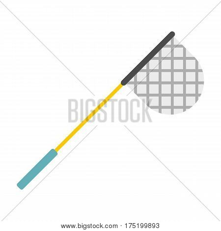 Fishing net icon in flat style isolated on white background vector illustration