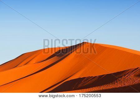 Sand Dunes In Sahara Desert In Africa