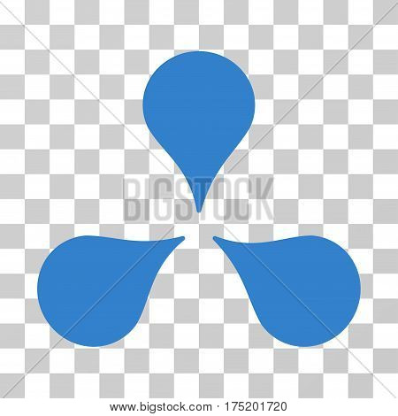 Map Markers icon. Vector illustration style is flat iconic symbol cobalt color transparent background. Designed for web and software interfaces.