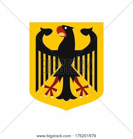 Coat of arms of Germany icon in flat style isolated on white background vector illustration