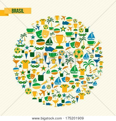 Brazil Lifestyle Sport And Culture Icon Set