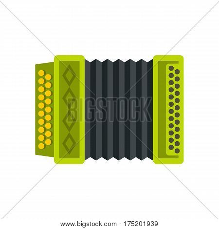 Accordion icon in flat style isolated on white background vector illustration