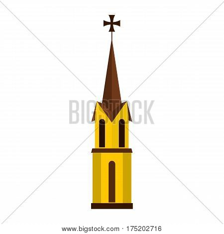 Church icon in flat style isolated on white background vector illustration