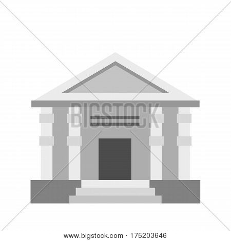 Colonnade icon in flat style isolated on white background vector illustration