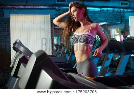 Beautiful Girl Run During Fitness Workout