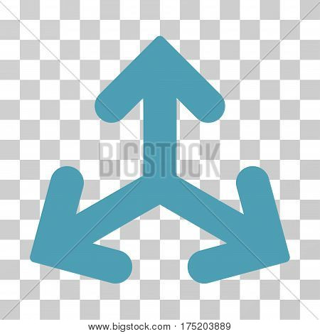 Direction Variants icon. Vector illustration style is flat iconic symbol cyan color transparent background. Designed for web and software interfaces.