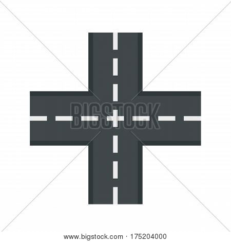 Crossing road icon in flat style isolated on white background vector illustration
