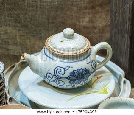 traditional Chinese teapot used in tea ceremony