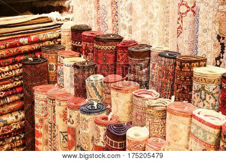 Turkish Carpets In Grand Bazaar
