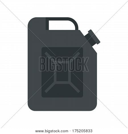 Black jerrycan icon in flat style isolated on white background vector illustration