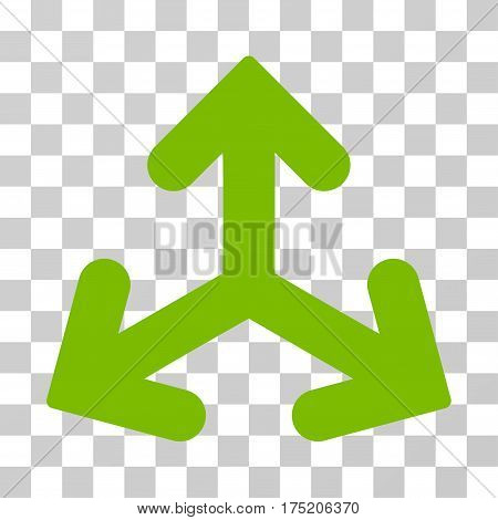 Direction Variants icon. Vector illustration style is flat iconic symbol eco green color transparent background. Designed for web and software interfaces.