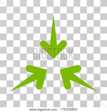 Impact Arrows icon. Vector illustration style is flat iconic symbol eco green color transparent background. Designed for web and software interfaces.