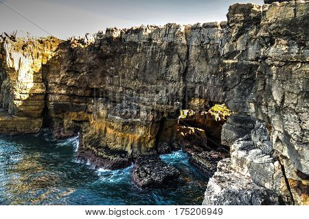 Boca do Inferno chasm aka Hell's Mouth in Cascais Portugal