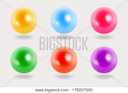 Colorful perls on grey background, vector illustration, eps10
