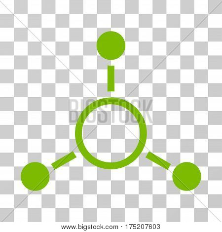 Radial Structure icon. Vector illustration style is flat iconic symbol eco green color transparent background. Designed for web and software interfaces.