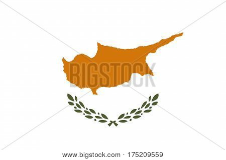 Official vector flag of Republic of Cyprus .