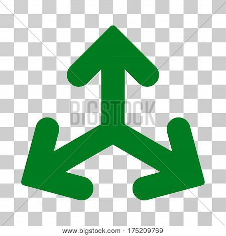 Direction Variants icon. Vector illustration style is flat iconic symbol green color transparent background. Designed for web and software interfaces.
