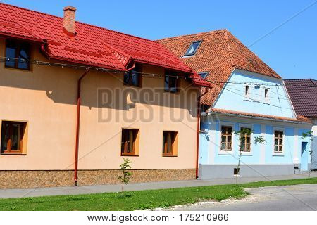 Typical house in the village Bod, transylvania, Romania.