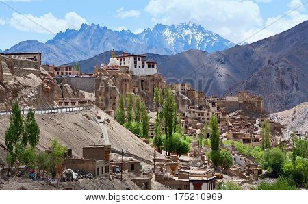Ancient Lamayuru Gompa in Ladakh, Jammu and Kashmir State, North India