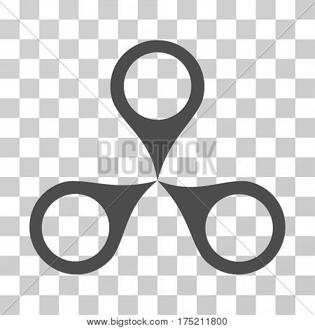 Map Markers icon. Vector illustration style is flat iconic symbol gray color transparent background. Designed for web and software interfaces.