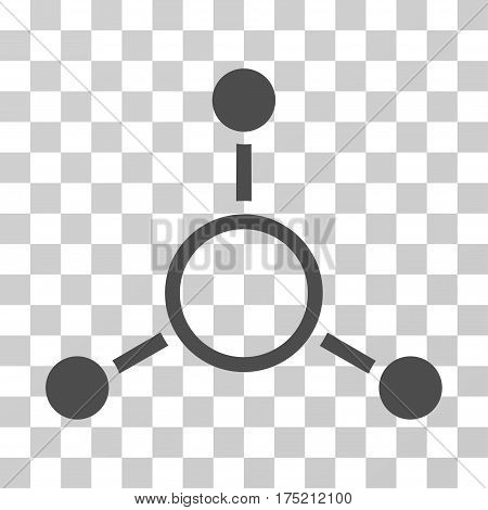 Radial Structure icon. Vector illustration style is flat iconic symbol gray color transparent background. Designed for web and software interfaces.