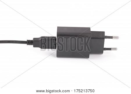 Charging devices for tablet pc isolated white background with soft shadow. Close-up