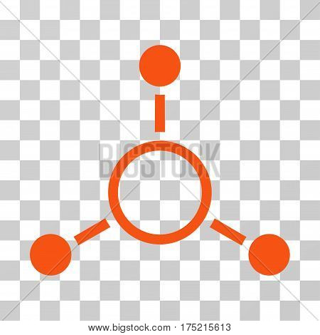 Radial Structure icon. Vector illustration style is flat iconic symbol orange color transparent background. Designed for web and software interfaces.