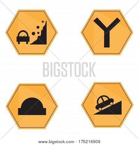 Set of transit signals on a white background, Vector illustration