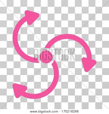Fan Rotation icon. Vector illustration style is flat iconic symbol pink color transparent background. Designed for web and software interfaces.