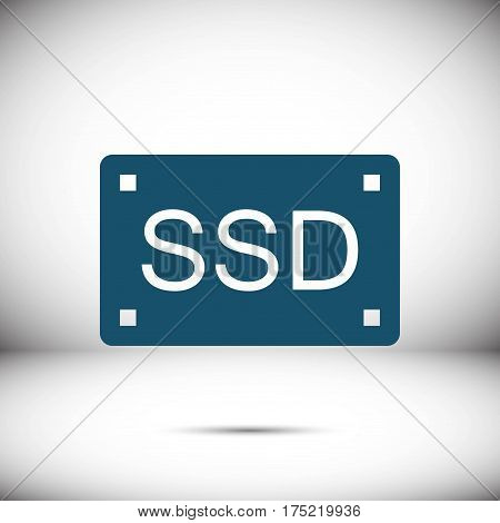 ssd icon stock vector illustration flat design