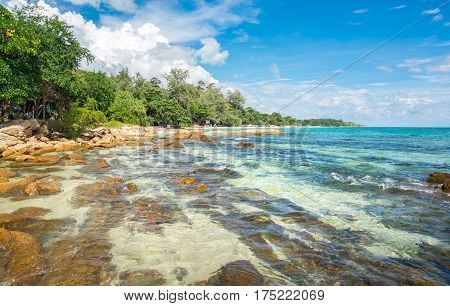 Rocky Beach Of Koh Samet Island In Thailand
