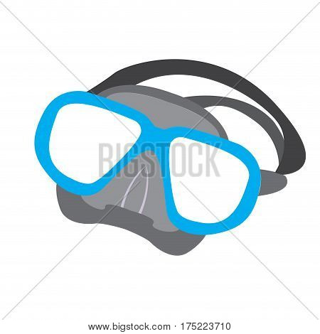 Isolated snorkel icon on a white backgrond, Vector illustration