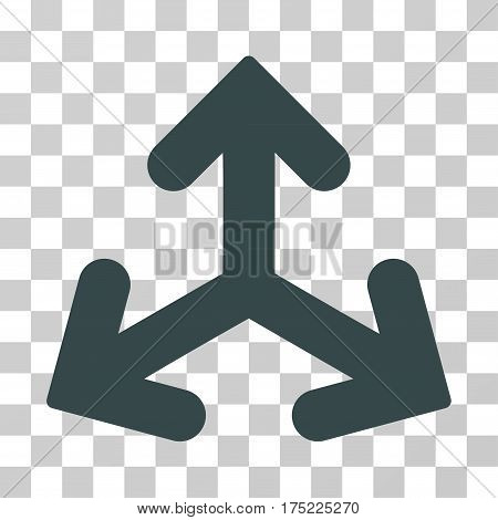Direction Variants icon. Vector illustration style is flat iconic symbol soft blue color transparent background. Designed for web and software interfaces.