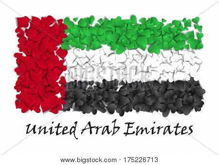 Flag Love Unitaed Arab Emirates. Flag Heart Glossy. With love from Unitaed Arab Emirates. Made in Unitaed Arab Emirates. Flag Unitaed Arab Emirates national independence day. Sport team flag. Island. Abu Dhabi, Dubai