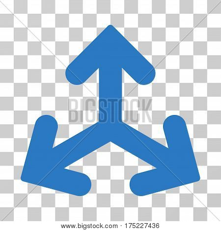 Direction Variants icon. Vector illustration style is flat iconic symbol, smooth blue color, transparent background. Designed for web and software interfaces.