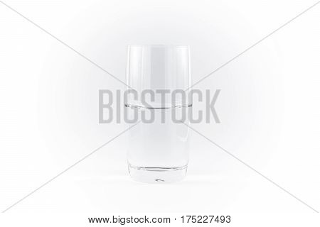 Pure Clean Glass Of Water Simple Minimalistic White Background Necessities Of Life
